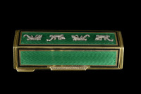 Silver Box with Enamels and Diamonds []