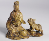 Guanyin with a Lion []