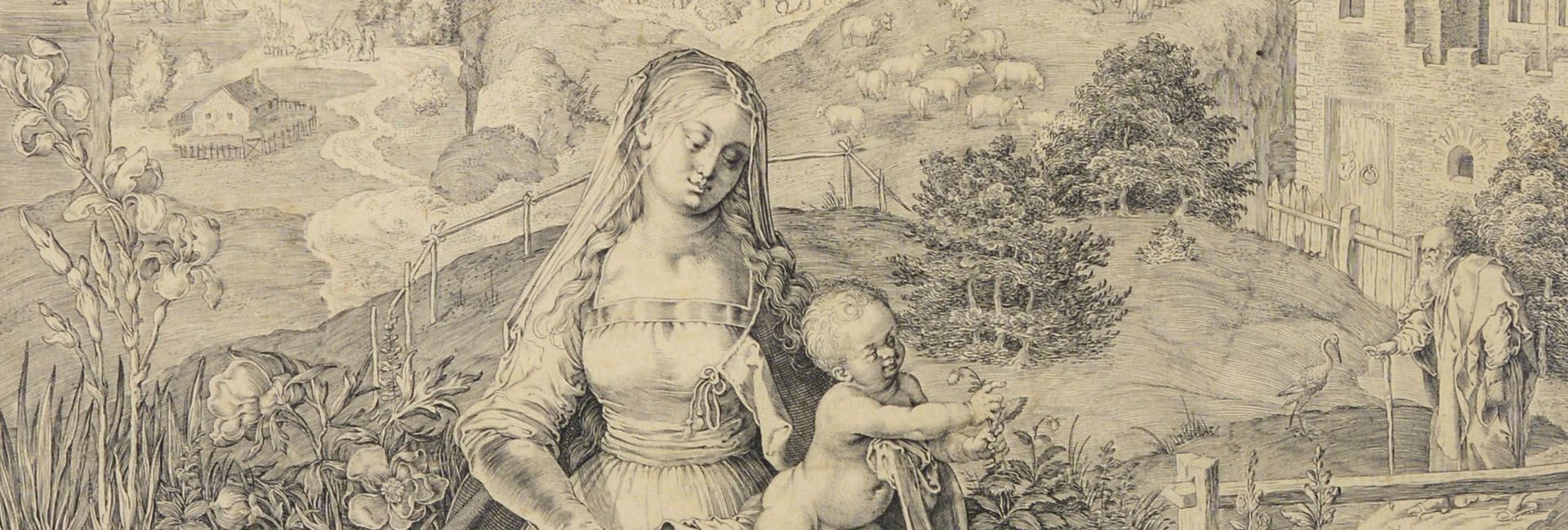 MADONNA WITH CHILD IN A LANDSCAPE [Aegidius Sadeler]